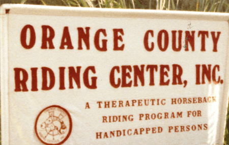 The Shea Center History - Orange County Riding Center, Inc. Sign