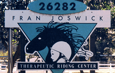 The Shea Center History - Fran Joswick Therapeutic Riding Center Sign